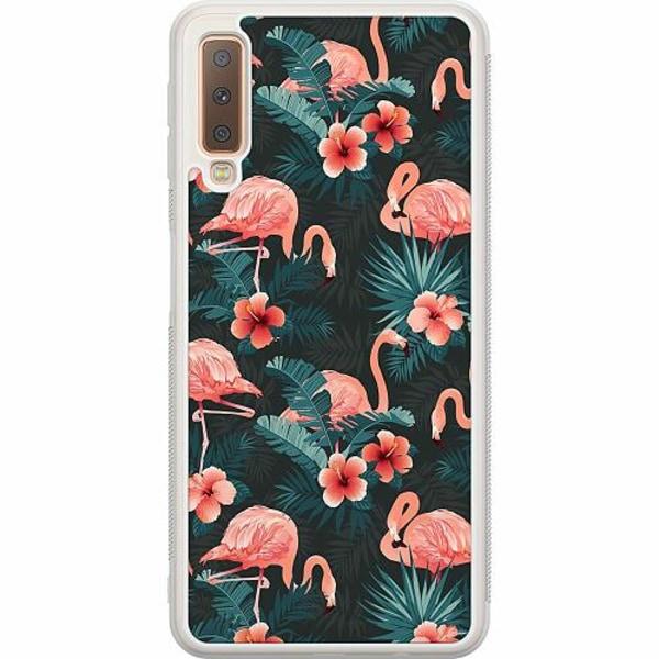 Samsung Galaxy A7 (2018) Soft Case (Frostad) Flamingo Fever