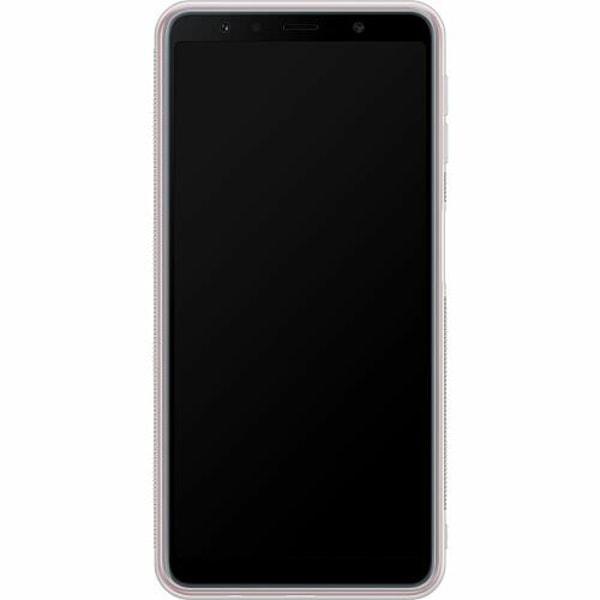 Samsung Galaxy A7 (2018) Soft Case (Frostad) Purple Florals