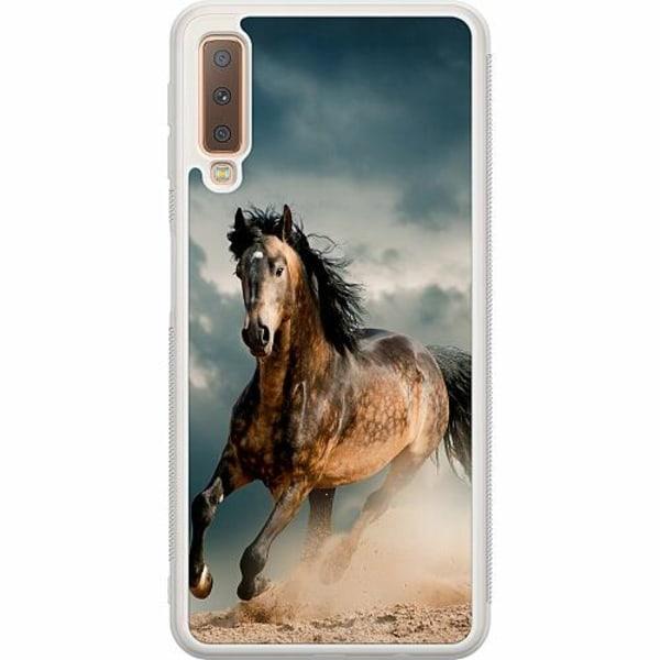 Samsung Galaxy A7 (2018) Soft Case (Frostad) Häst