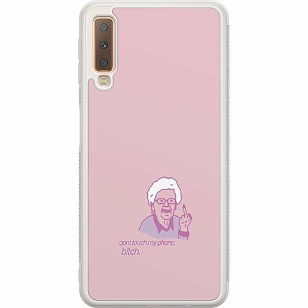 Samsung Galaxy A7 (2018) Soft Case (Frostad) My phone bitch