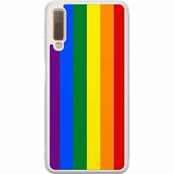 Samsung Galaxy A7 (2018) Soft Case (Frostad) Pride Flagga