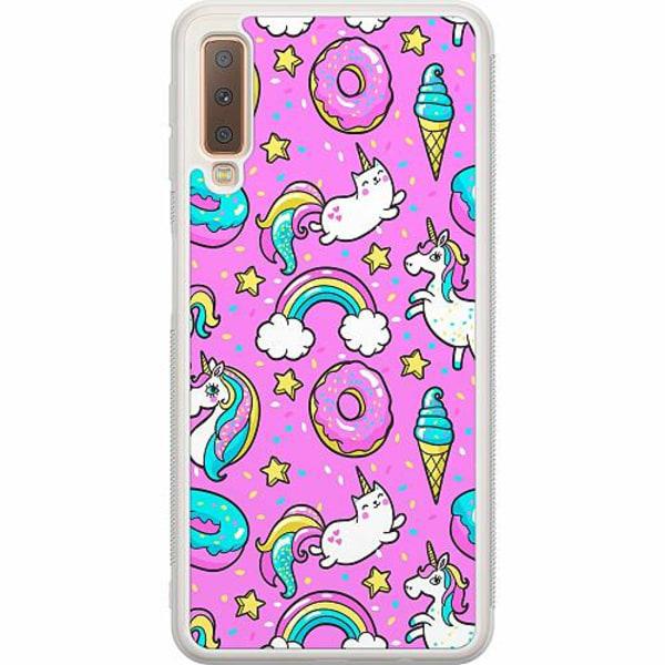Samsung Galaxy A7 (2018) Soft Case (Frostad) Unicorns