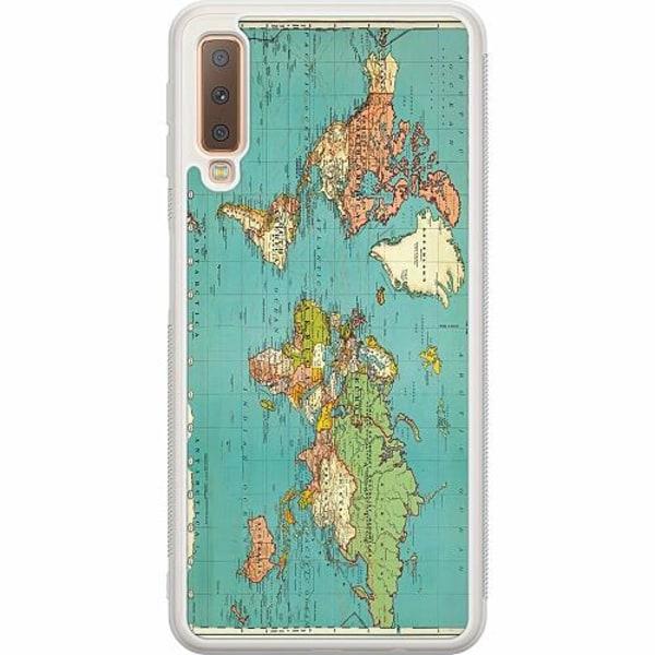 Samsung Galaxy A7 (2018) Soft Case (Frostad) World Map