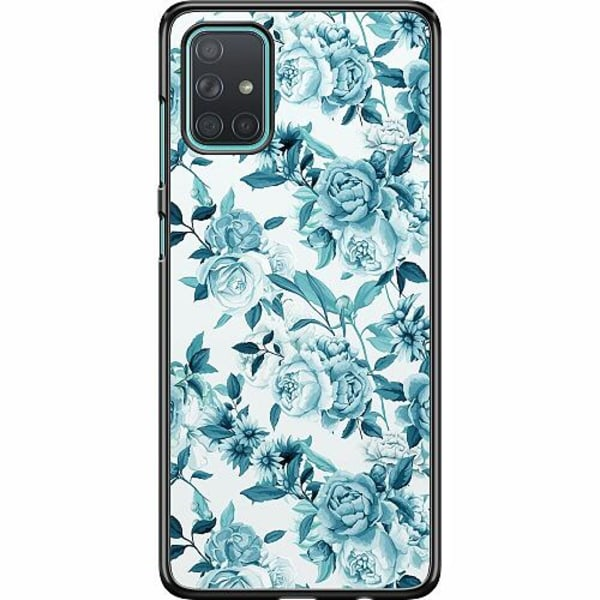 Samsung Galaxy A71 Hard Case (Svart) Blommor