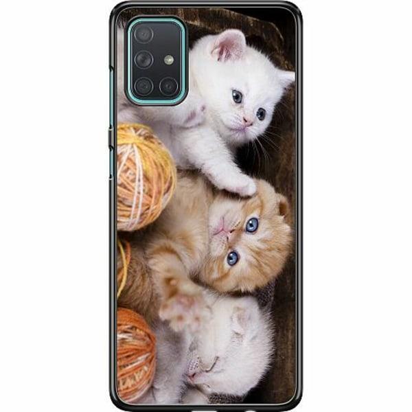 Samsung Galaxy A71 Hard Case (Svart) Katter