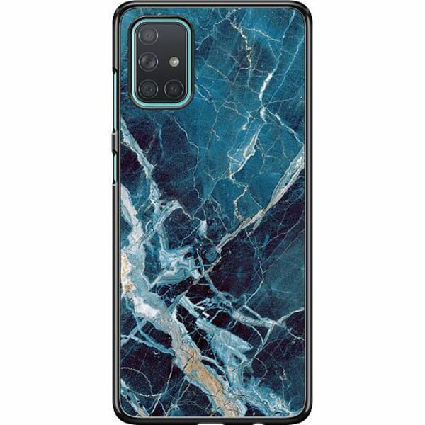 Samsung Galaxy A71 Hard Case (Svart) Marmor