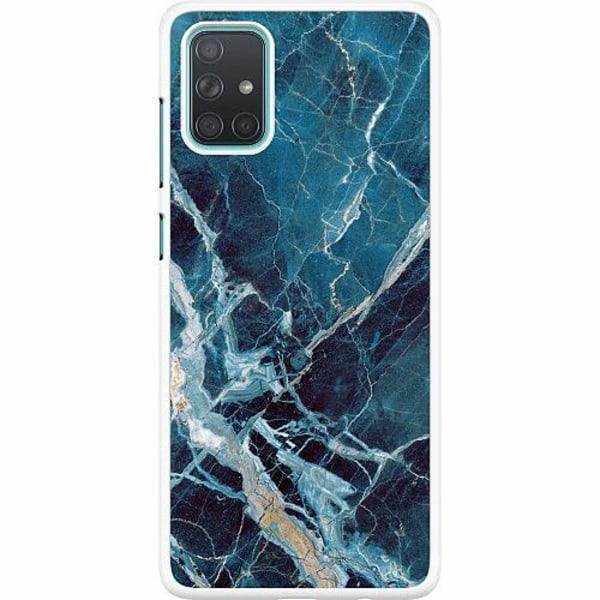 Samsung Galaxy A71 Hard Case (Vit) Marmor