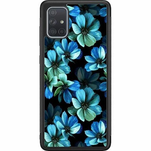 Samsung Galaxy A71 Soft Case (Svart) Blommor