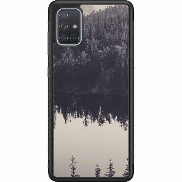 Samsung Galaxy A71 Soft Case (Svart) Pattern
