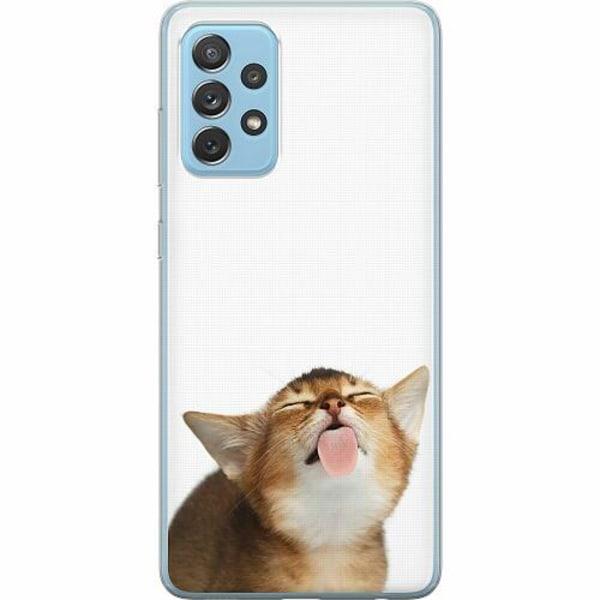 Samsung Galaxy A72 5G Mjukt skal - Cat Keeps You Clean