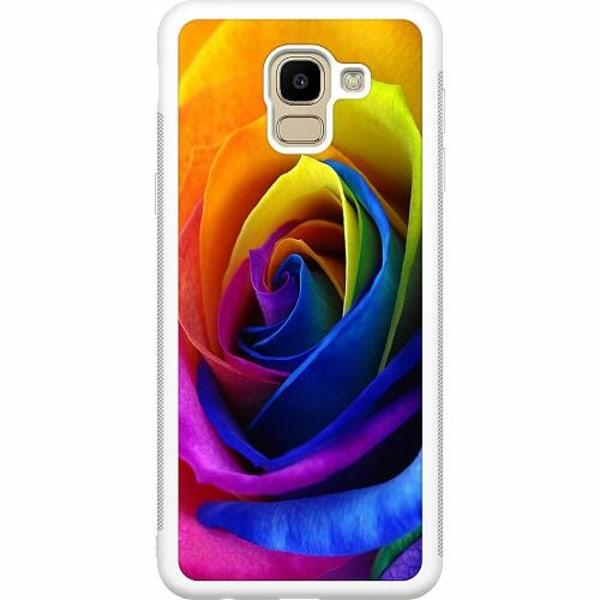 Samsung Galaxy J6 (2018) Soft Case (Vit) Blomma