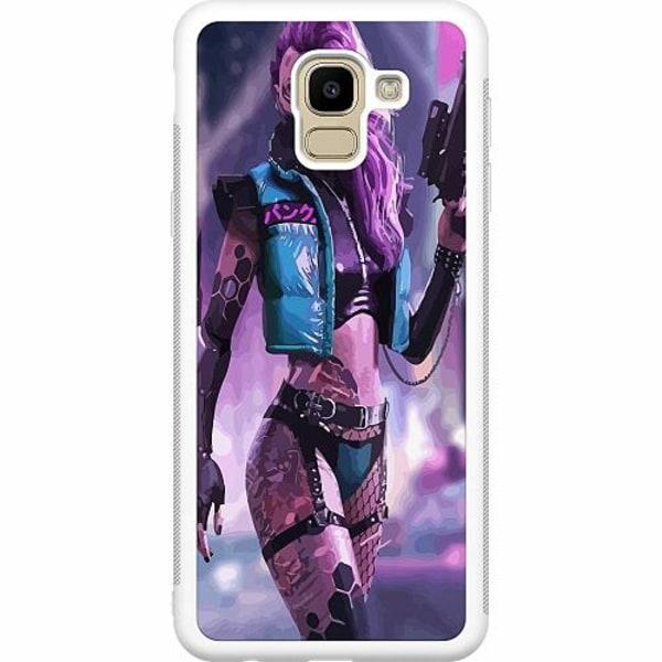 Samsung Galaxy J6 (2018) Soft Case (Vit) Cyberpunk 2077