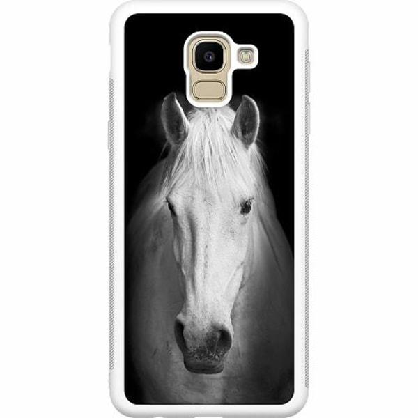 Samsung Galaxy J6 (2018) Soft Case (Vit) Häst