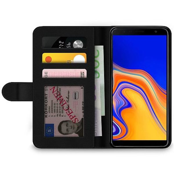 Samsung Galaxy J6 Plus (2018) Billigt Fodral Military B/W