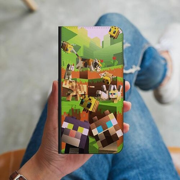 Sony Xperia L3 Plånboksskal MineCraft