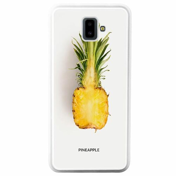Samsung Galaxy J6 Plus (2018) Soft Case (Vit) Pineapple