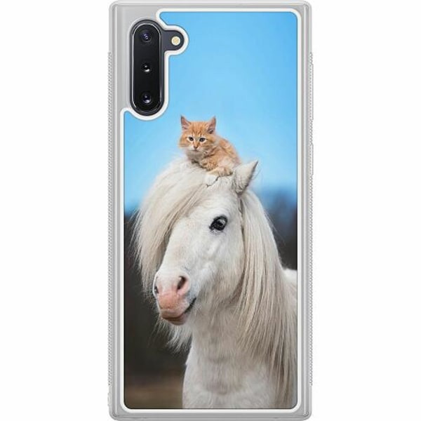 Samsung Galaxy Note 10 Soft Case (Frostad) Häst & Katt