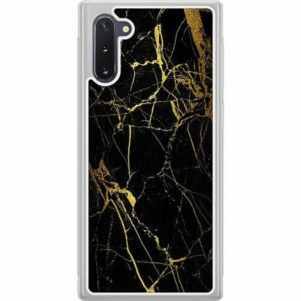 Samsung Galaxy Note 10 Soft Case (Frostad) Marble Black&Gold
