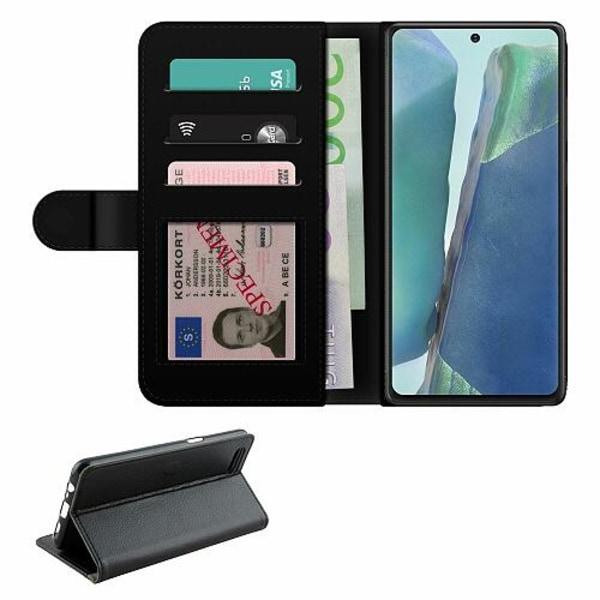 Samsung Galaxy Note 20 Fodralväska Brushed Metal
