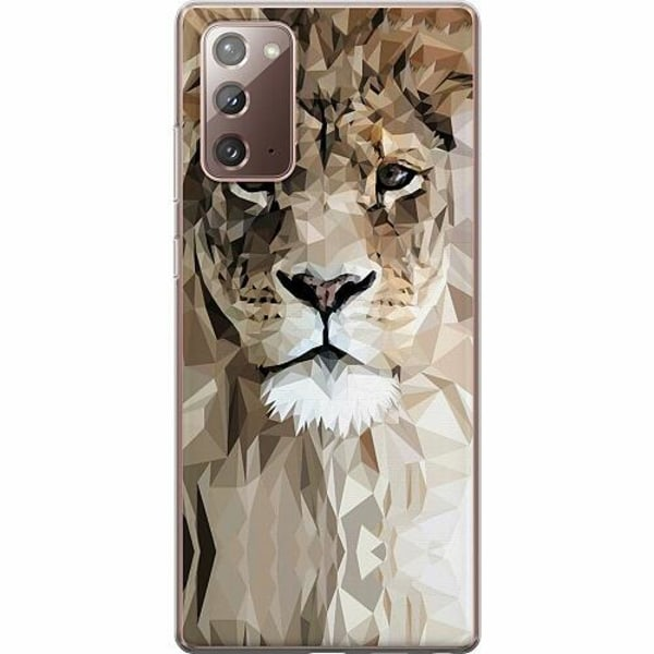 Samsung Galaxy Note 20 TPU Mobilskal Abstract Lion