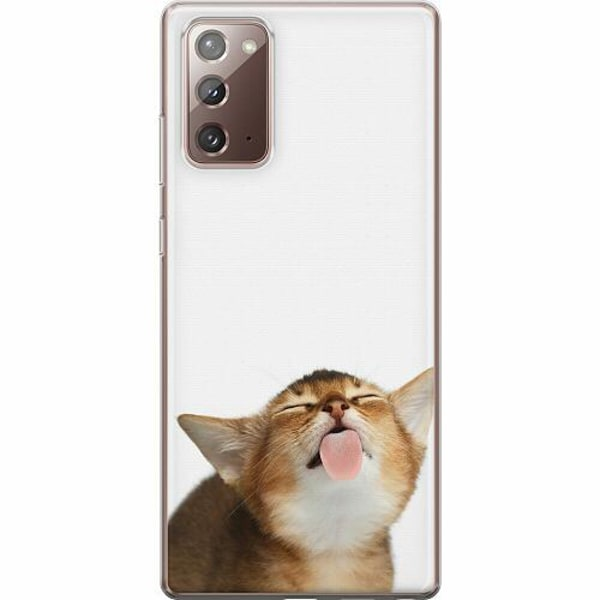 Samsung Galaxy Note 20 TPU Mobilskal Cat Keeps You Clean