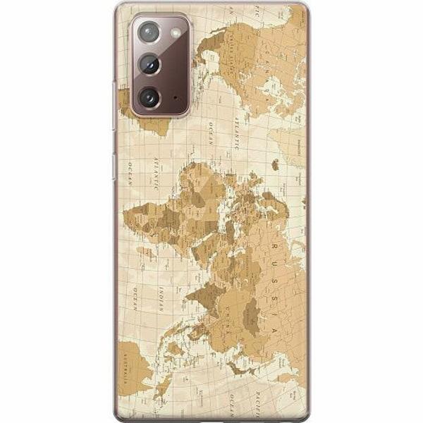 Samsung Galaxy Note 20 TPU Mobilskal Map