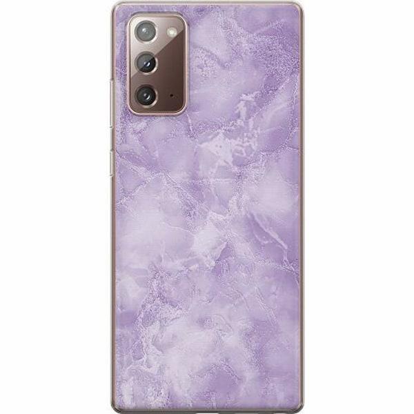 Samsung Galaxy Note 20 TPU Mobilskal Marmor