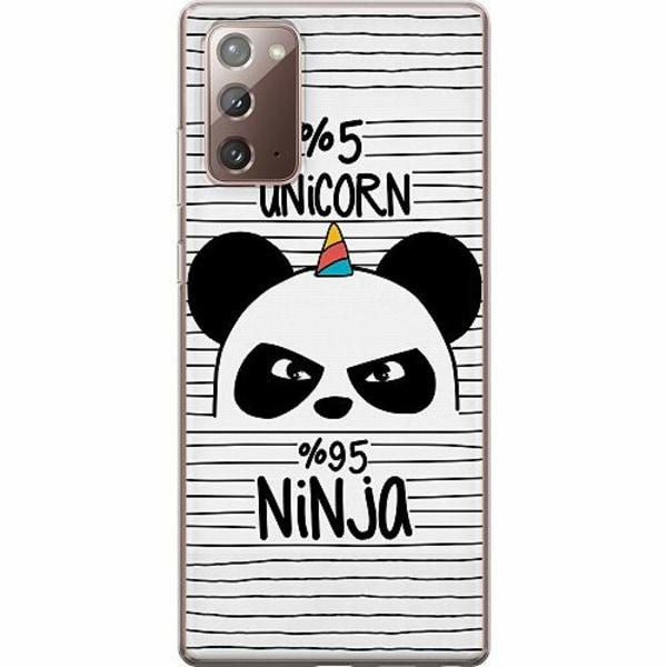 Samsung Galaxy Note 20 TPU Mobilskal Ninja Panda With A Twist