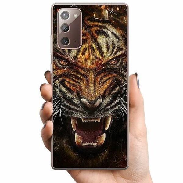 Samsung Galaxy Note 20 TPU Mobilskal Angry Tiger