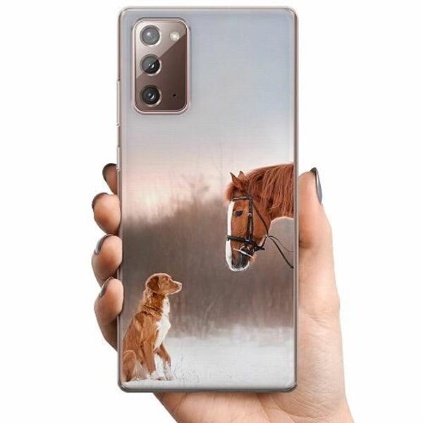 Samsung Galaxy Note 20 TPU Mobilskal Häst & Hund