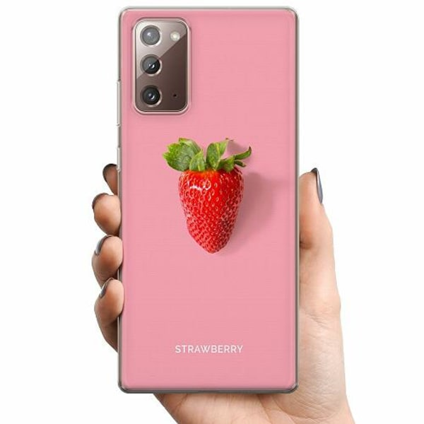 Samsung Galaxy Note 20 TPU Mobilskal Strawberry