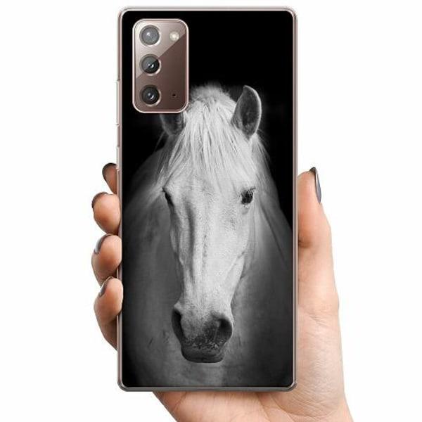 Samsung Galaxy Note 20 TPU Mobilskal Vit Häst