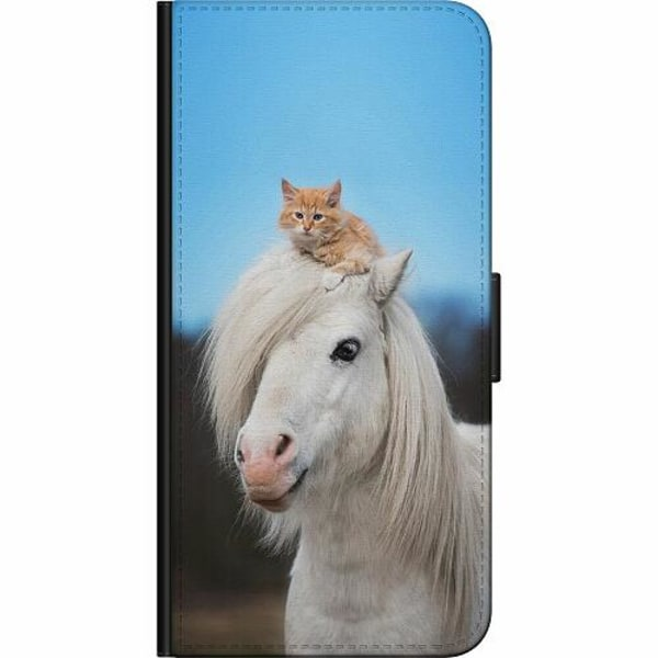 Samsung Galaxy Note 20 Ultra Fodralväska Horse with CatHat