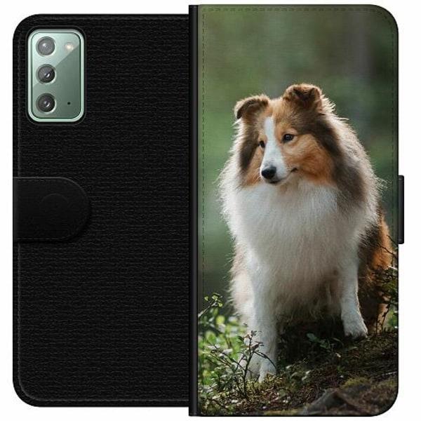 Samsung Galaxy Note 20 Wallet Case Collie Dog