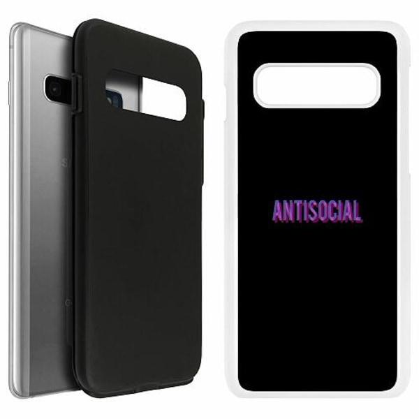 Samsung Galaxy S10 Duo Case Vit Antisocial