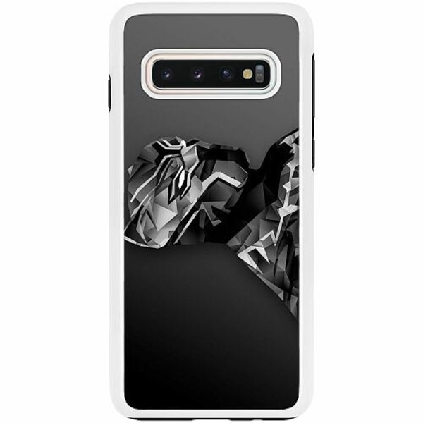 Samsung Galaxy S10 Duo Case Vit Black Panther
