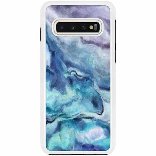 Samsung Galaxy S10 Duo Case Vit Blur