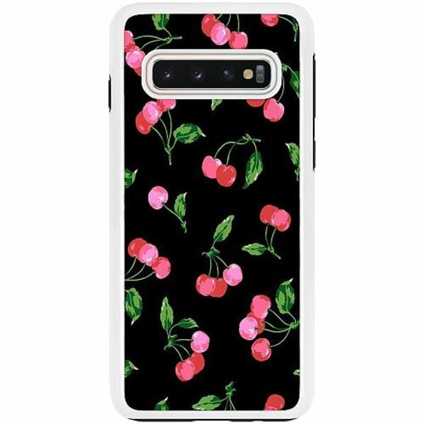 Samsung Galaxy S10 Duo Case Vit Cherry