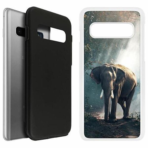 Samsung Galaxy S10 Duo Case Vit Elefant