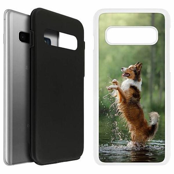 Samsung Galaxy S10 Duo Case Vit Happy Dog