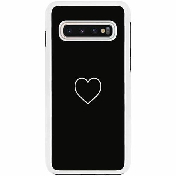 Samsung Galaxy S10 Duo Case Vit Hjärta