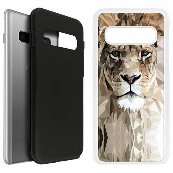 Samsung Galaxy S10 Duo Case Vit Lejon