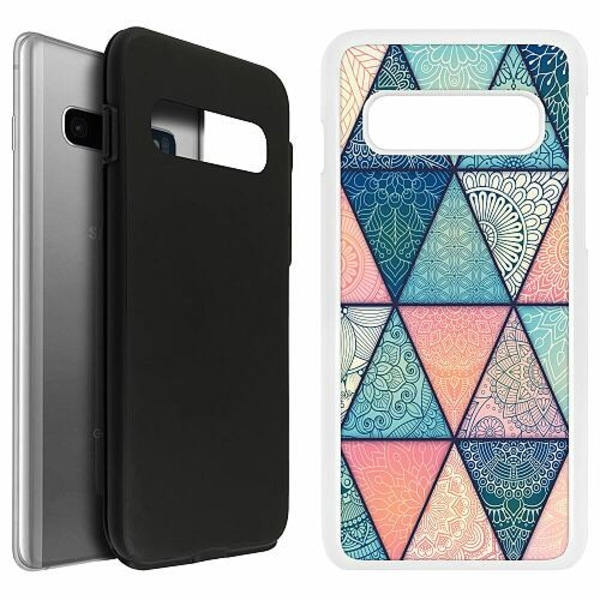 Samsung Galaxy S10 Duo Case Vit Mandala triangles