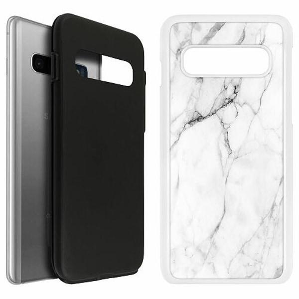 Samsung Galaxy S10 Duo Case Vit Marmor