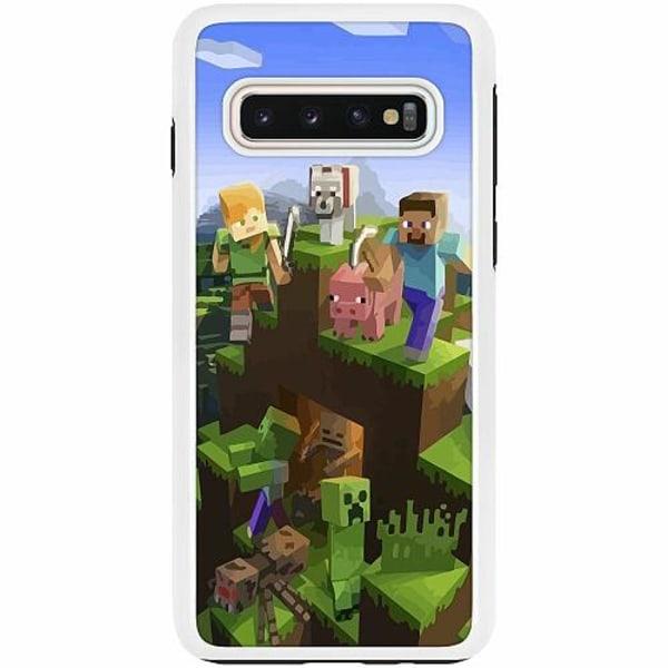 Samsung Galaxy S10 Duo Case Vit MineCraft