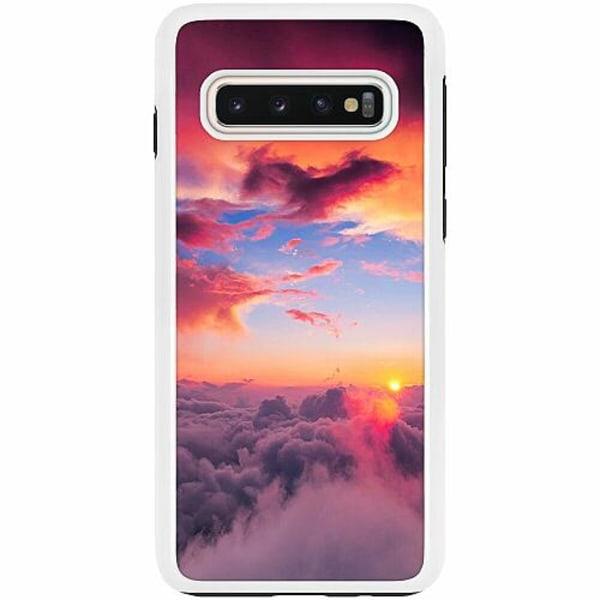 Samsung Galaxy S10 Duo Case Vit Moln