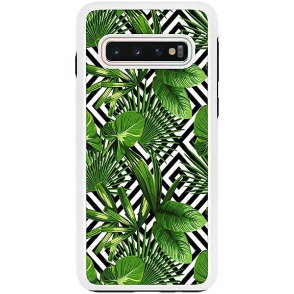 Samsung Galaxy S10 Duo Case Vit Mönster