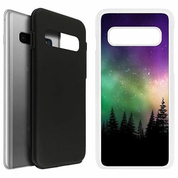 Samsung Galaxy S10 Duo Case Vit Northern Lights