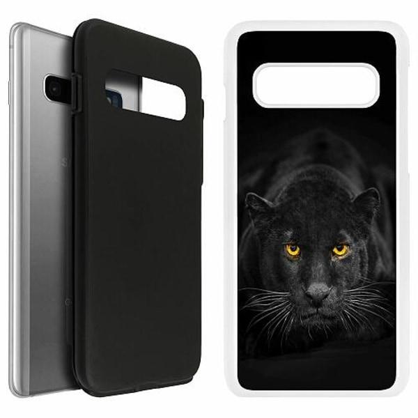 Samsung Galaxy S10 Duo Case Vit Panther