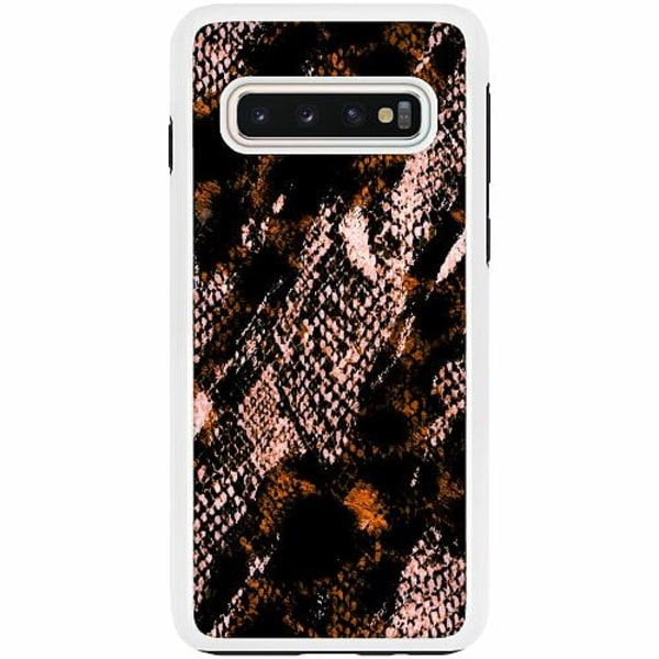 Samsung Galaxy S10 Duo Case Vit Snakeskin B